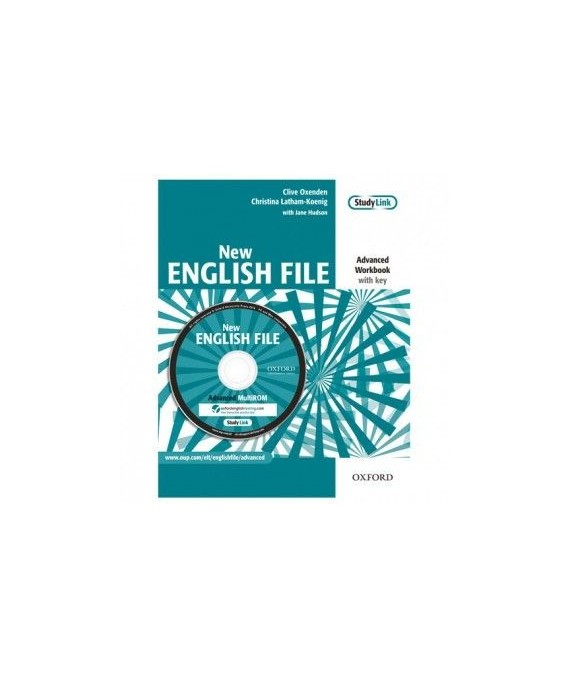 New English File Advanced Workbook with Answer Key and MultiROM Pack