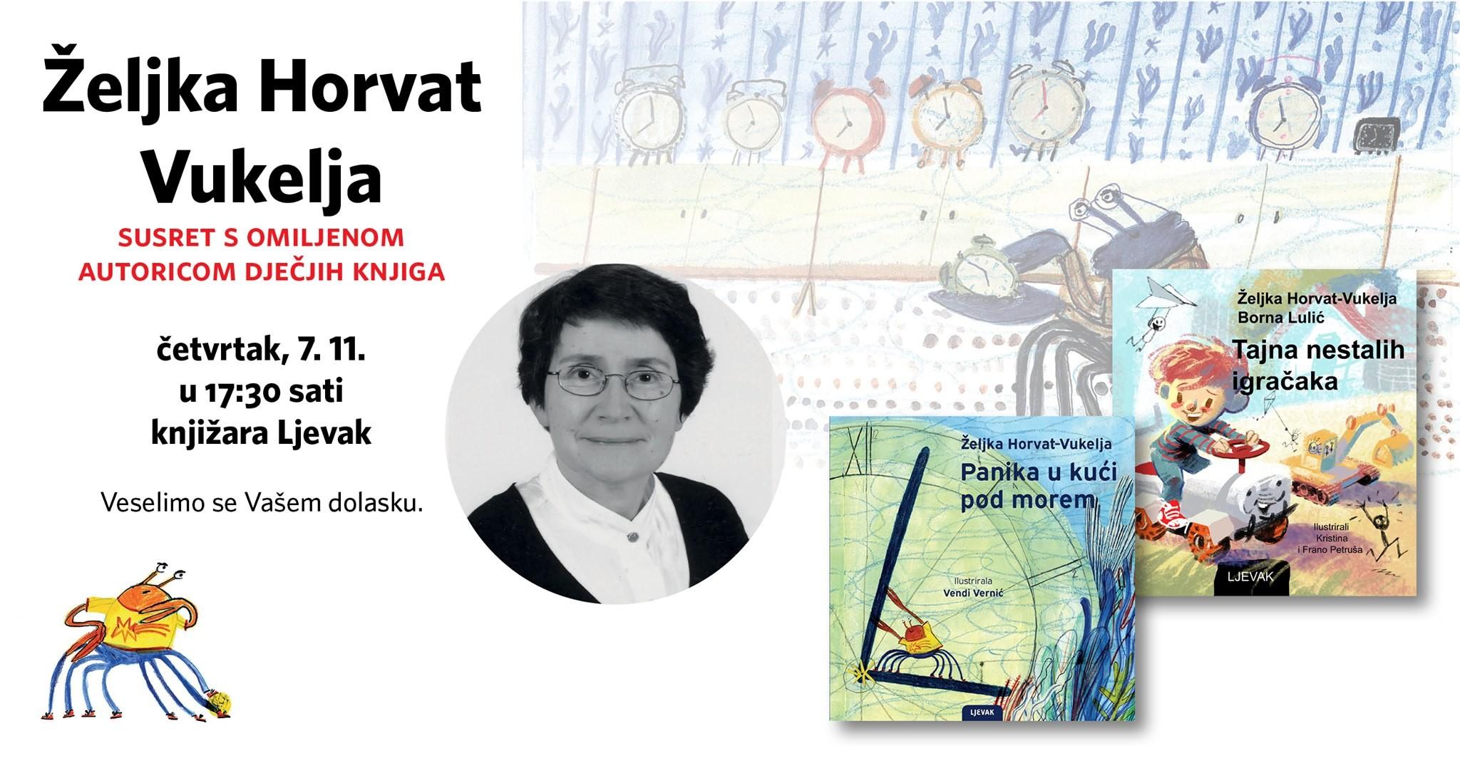 Željka Horvat Vukelja u Knjižari Ljevak
