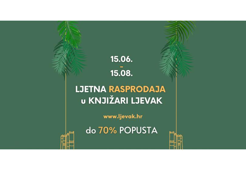 Velika ljetna rasprodaja knjiga u Knjižari Ljevak